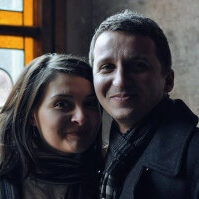 Dan Beltechi, with his wife, Anca